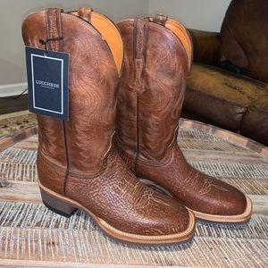 Lucchese Men's 8.5 Bison Western Cowboy Boot